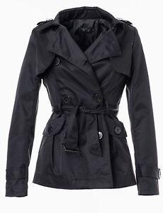 60-OFF-Violet-Fashion-Damen-Trenchcoat-Zweireiher-mit-Guertel-IV049-schwarz