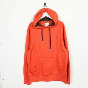 Vintage-FILA-Small-Logo-Polyester-Hoodie-Sweatshirt-Orange-Large-L-Grade-B