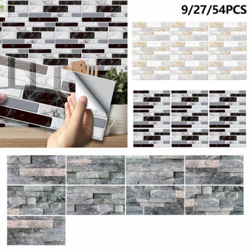 Mosaic Sticker Kitchen Tile Stickers Bathroom Self-adhesive Wall Decor Home.