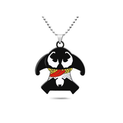 Avengers Cartoon Metal Venom Beads Chain Pendant Jewelry Necklace Gift