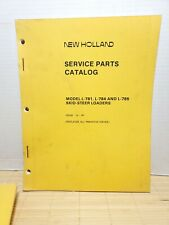 Original New Holland L 781 L 784 L 785 Skid Steer Loaders Parts Catalog Manual
