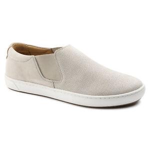 7ee04cf90 NIB Birkenstock Women s Barrie Nubuck Leather Slip On Shoes in Off ...