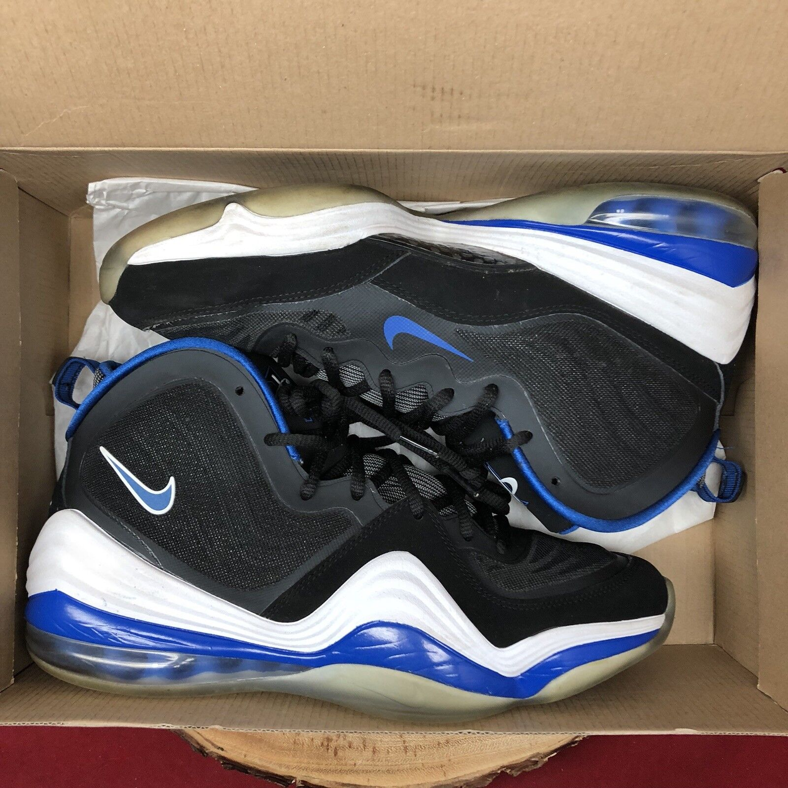 Nike Air Penny Penny Penny V 5 Black Game Royal White Orlando 537331-040 Sz 10.5 Foamposite 4f1cb2