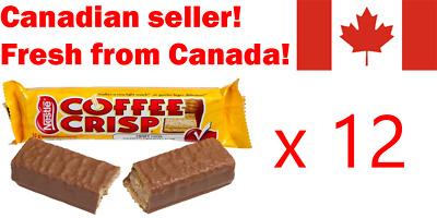 12 Coffee Crisp Chocolate Candy Bar Nestle Canadian Fresh