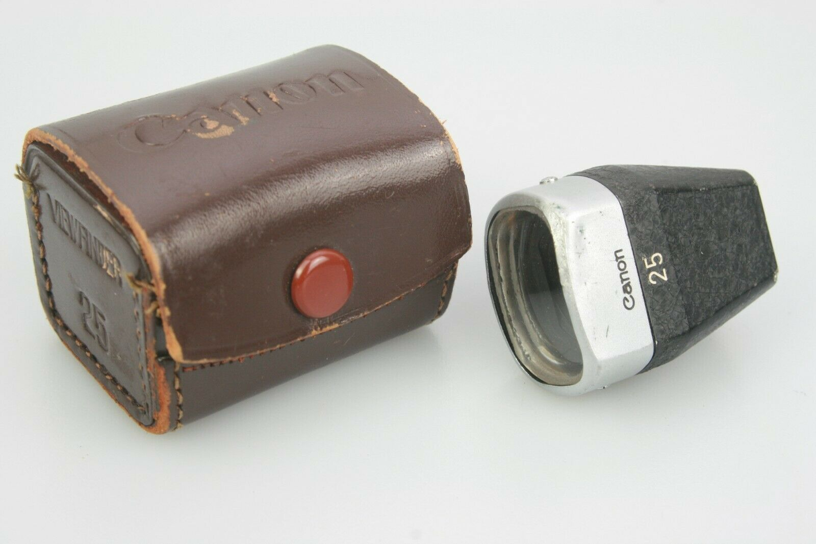 Vintage CANON 25mm VIEWFINDER & Leather Case