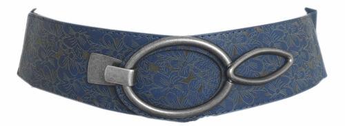 Cintura da donna in pelle blu in vita Cintura guaine Fiore Stretch mml-65-27 OFFERTA