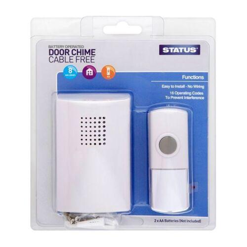 Wireless Door Chime Battery Operated No Wires Door Bell Status Doorbell