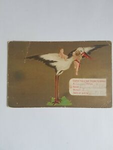 Greeting-Postcard-Vintage-Birth-Announcement