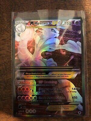 Pokemon Mega Dark Proxy Shiny Shinin Mewtwo GX Ex x Shadow Full Art Foil M
