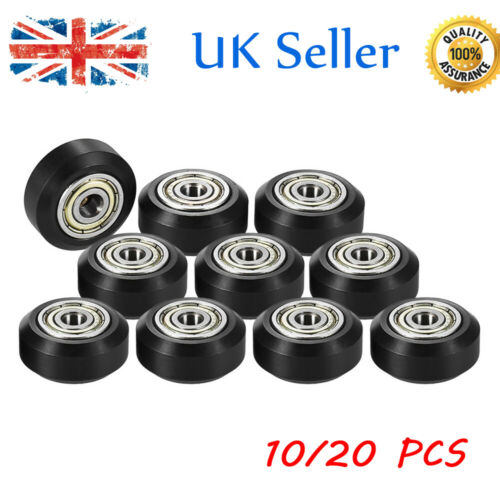 10//20 pcs Pulley Passive Round Wheel With Bearing Gear For CNC i3 3D Printer UK