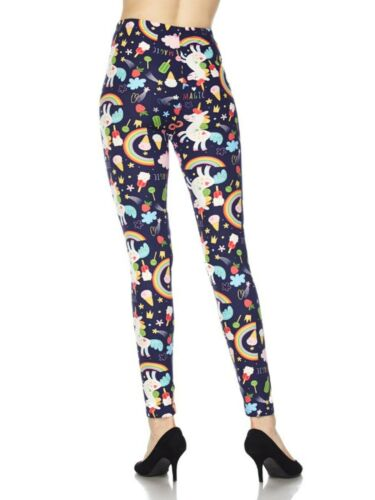 Women Ultra Soft Printed Fashion Halloween Full Length Ankle Leggings S//M//L
