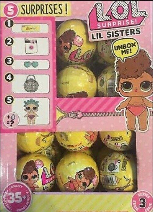 L.O.L. SURPRISE Series 3 Wave 1 Lil Sisters LOL Surprise - Choose Quantity NEW