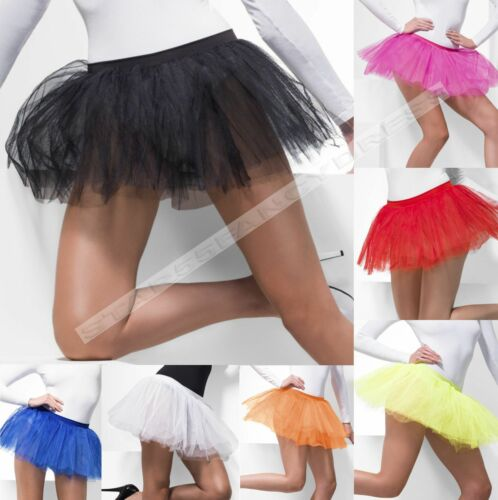Tutu da donna bianca nera 4 strati Tutu Sottogonna Sottoveste FANCY DRESS 8-16