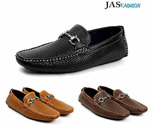 Mens-Slip-On-Driving-Shoes-Italian-Designer-Loafers-Casual-Smart-Moccasin-Style