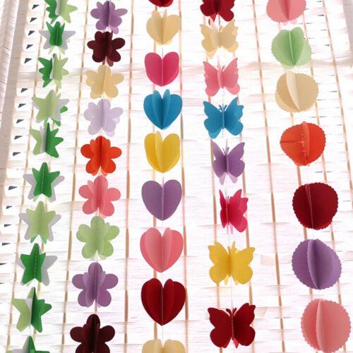 Papier suspendu 3D coeur guirlande anniversaire bannière mariage plafond