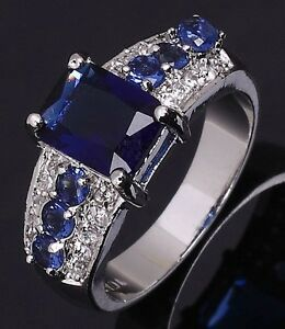 Jewelry-Size-8-Solitaire-Blue-Sapphire-18K-Gold-Filled-Engagement-Woman-Ring