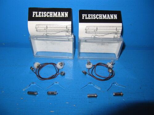 2 x Fleischmann H0 Innenbeleuchtung  No 6450 Unbenutzt in OVP #1798