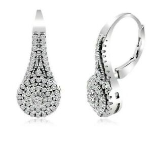 Diamonique-18K-White-Gold-Filled-Round-Pave-039-2-50cttw-Leverback-Earrings