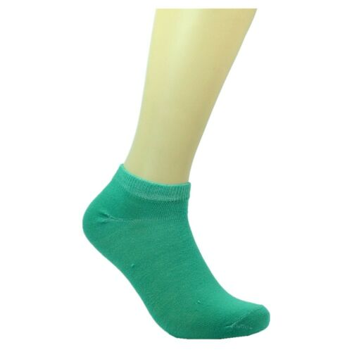 6-12 Pairs New Fashion Cotton Women Ankle Low Cut School Casual Socks 9-11 solid