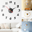 2019-New-Clock-Watch-Wall-Clocks-3D-DIY-Wall-Clock-Acrylic-Mirror-Stickers-Home miniature 1