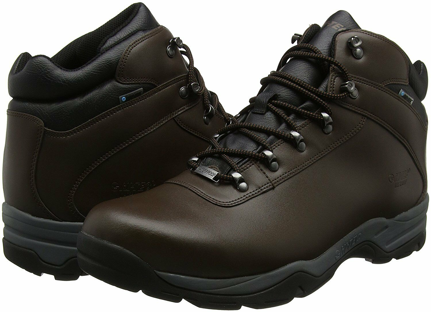 Mens Hi Tec Leather Walking Trainers Hiking Waterproof Ankle Boots Trainers Walking Shoes Size 0b5ab6
