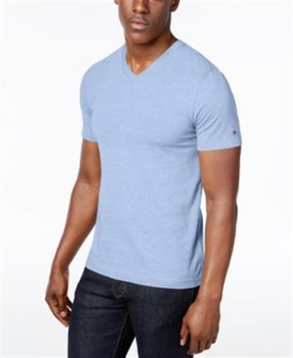 wholesale dealer 3b4b9 23473 Tommy Hilfiger Elmira V Neck T Shirt Malaga Blue Heather Mens Size Large New