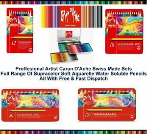 Caran Dache Supracolor Soft Aquarelle Sketching Water Colour Pencils Set Of 40