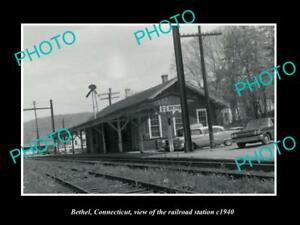 OLD-LARGE-HISTORIC-PHOTO-BETHEL-CONNECTICUT-THE-RAILROAD-STATION-c1940