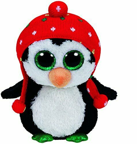 Ty Beanie Boo 36172 Penguin with Knit Hat Freeze