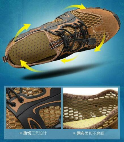 Men/'s Water Sports Shoes Hiking Outdoor Snekaers Mesh Breathable Wading shoes
