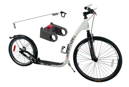 weiß inkl Adapter Dogscooter Raptor 26//20 Zoll Antenne für Leinenführung u