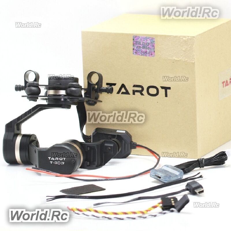 Tarot T-3D IV in metallo 3-Axis Hero 4 sessione Gimbal per GOPRO DRONE-TL3T02