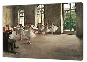 Edgar Decas Ballet Rehersal Reprint on Framed Canvas Wall Art Home Decoration