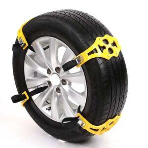 8x-Stabile-Schneeketten-Auto-Anfahrhilfe-Schnee-Eis-Reifen-Spikes-Schneekett