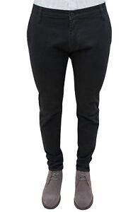 Pantalones-Hombre-Sartorial-Casual-Negro-de-Invierno-de-Algodon-De-42A-60