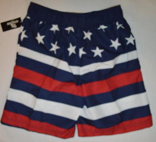 XL Boy/'s OT Revolution Blue Red White Stripe Starts Slip On Swim Shorts M L