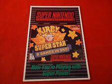Kirby Super Star Super Nintendo SNES Vidpro Promotional Shelf Display Card ONLY
