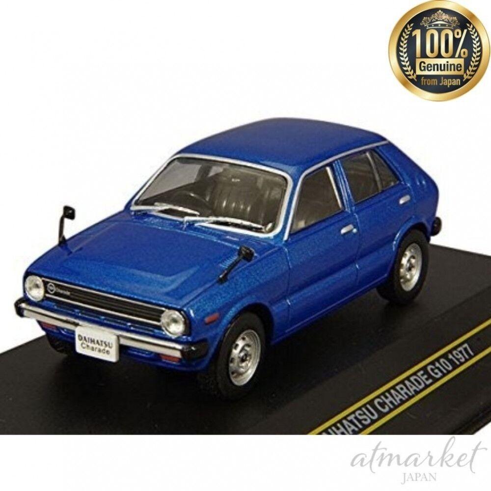 FIRST 43 Mini Car F43-083 1 43 Daihatsu Chardered G10 1977 bluee finished product