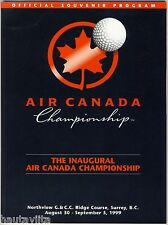 1st Air Canada Golf Championship Program 1999 Northview Golf CC Surrey BC PGA