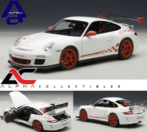 GT3 RS 3.8 WHITE WITH RED STRIPES 997 AUTOART 78143 1:18 PORSCHE 911