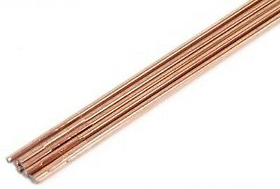 """1//16/"""" Copper Coated 3ft Long Mild Steel Gas Rod 28A002 Lot of 10  Rods"""