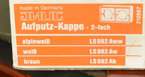 Jung Aufputz-Kappe 2-fach  LS 982 Aww alpinweiß F9