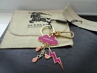 100% Authentic Burberry Pink, Gold Cloud / Weather Rain Bag Charm, Keyring