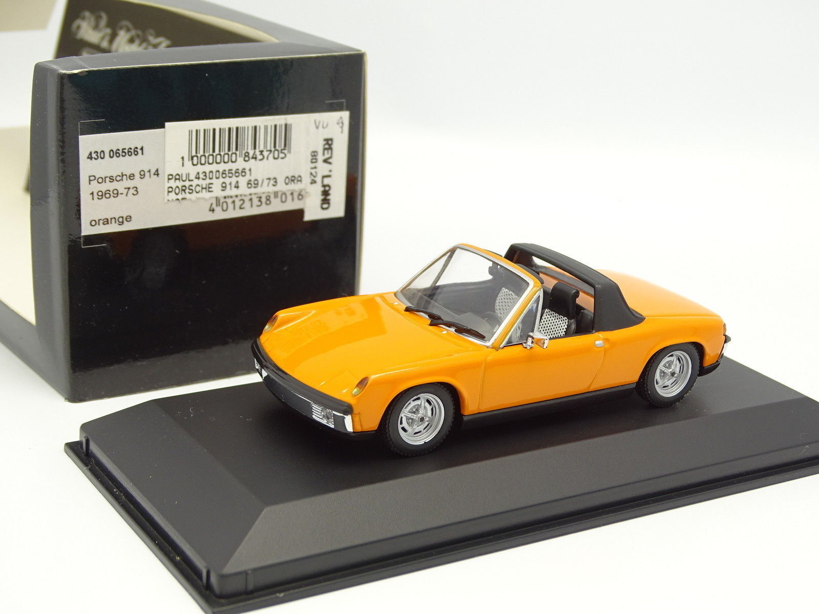 Minichamps 1   43 - porsche 914 1969 Orange
