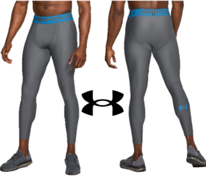 Under Armour Mens Compression Leggings Gym Running Bottoms 2.0 Grey