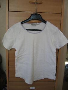 T-shirt-fille-blanc-violet-en-TBE-T-10-ans