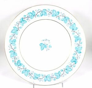 Image is loading SET-12-DINNER-PLATES-VINTAGE-MINTON-BONE-CHINA-  sc 1 st  eBay & SET 12+ DINNER PLATES VINTAGE MINTON BONE CHINA TURQUOISE BLUE S366 ...