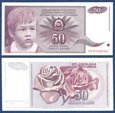 JUGOSLAWIEN / YUGOSLAVIA 50 Dinara 1990 UNC  P.104