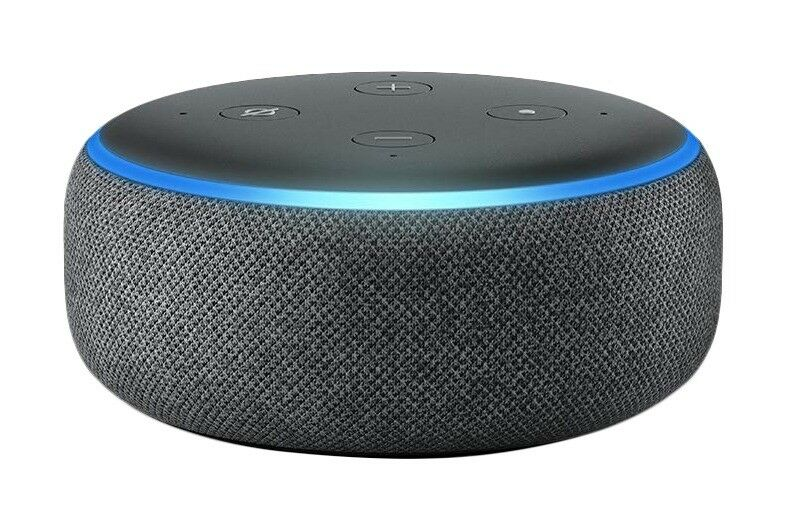 Amazon Echo Dot (3rd Generation) Alexa - Charcoal Fabric. New and Sealed