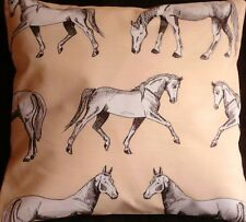 """Horse Equestrian Animal Handmade Cushion Cover/Pillow Case 16x16"""""""
